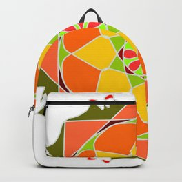 Abstract mandala in colors Backpack