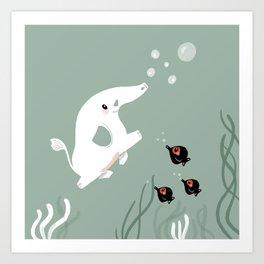Ocean Elephant Art Print