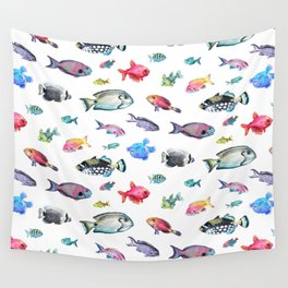 Painted Fish Wall Tapestry