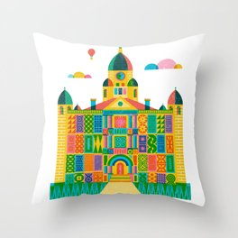 Denton Courthouse Throw Pillow