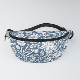 William Morris Navy Flower Field Pattern Fanny Pack