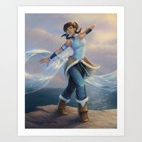 avatar Art Prints featuring Avatar by saehral