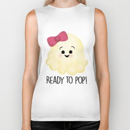 Ready To Pop - Popcorn Pink Bow Biker Tank