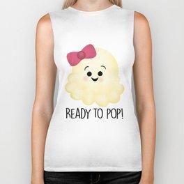 Ready To Pop - Popcorn Pink Bow Biker Tank