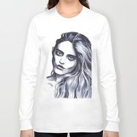 sky ferreira Long Sleeve T-shirts featuring Sky Ferreira by Hedi Slimane by Asquared2Art