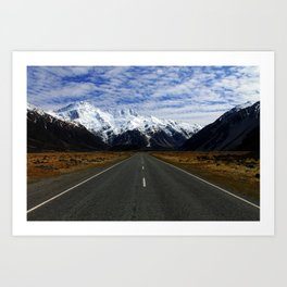Road to Mount Cook Art Print