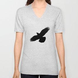 Raven silhouette Unisex V-Neck