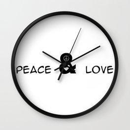 Peace and Love Motivational Pop-Art Wall Clock