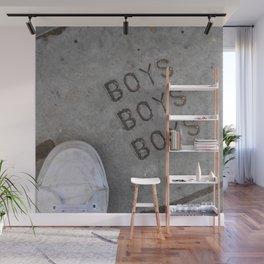 Boys Boys Boys Wall Mural