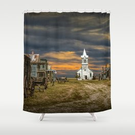 Western 1880 Town Shower Curtain