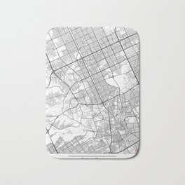Riyadh Map White Bath Mat