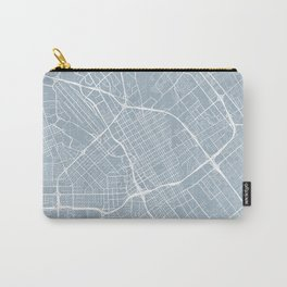 San Jose Map, USA - Slate Carry-All Pouch