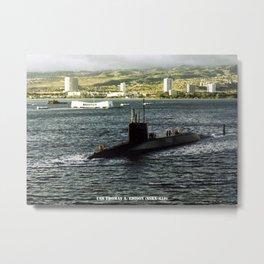 USS THOMAS A. EDISON (SSBN-610) Metal Print