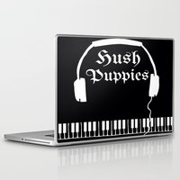 puppies Laptop & iPad Skins featuring Hush Puppies by Mike Semler