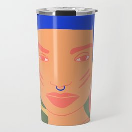 Exotic modern woman with a piercing Travel Mug