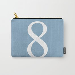 number eight sign on placid blue color background Carry-All Pouch
