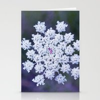 snowflake Stationery Cards featuring Snowflake by The Last Sparrow