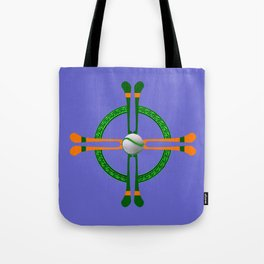 Hurley and Ball Celtic Cross Design - Solid colour background Tote Bag