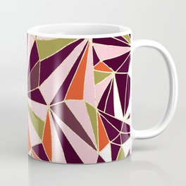 New Art Deco Geometric Pattern - Burgundi and Pink #deco #buyart Coffee Mug
