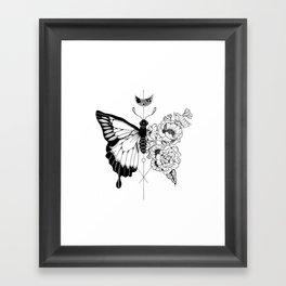 Flower Morphosis Framed Art Print