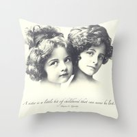 sisters Throw Pillows featuring Sisters by Carol Knudsen Photographic Artist
