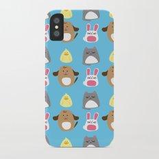 Cute animals iPhone X Slim Case