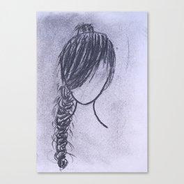 Girl with Braid Canvas Print