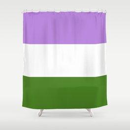 Genderqueer Pride Flag Shower Curtain