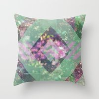 beth hoeckel Throw Pillows featuring BETH #2 by littlehomesteadco