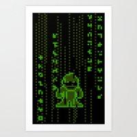 The Pixel Matrix Art Print