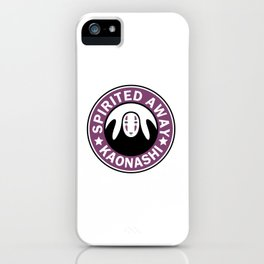 Spirited away,kaonashi parody logo iPhone Case
