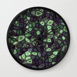 Fractal Gems 04 - Emerald Dreams Wall Clock