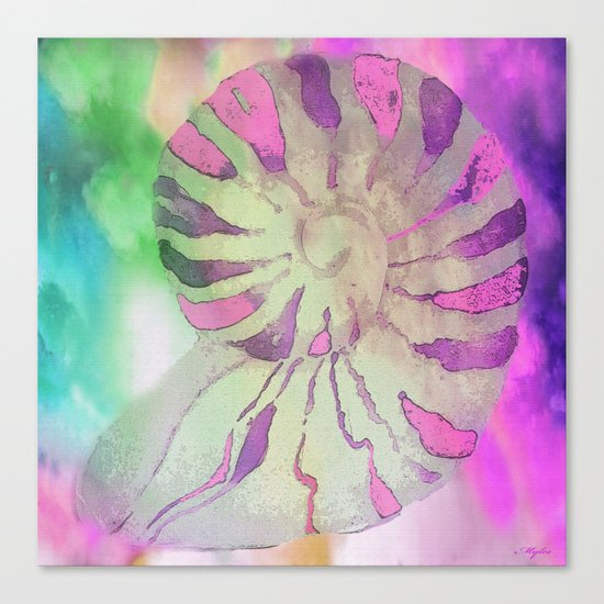 NAUTILUS SEA SHELL IMPRESSION Canvas Print