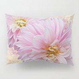 Pink Dahilas Pillow Sham