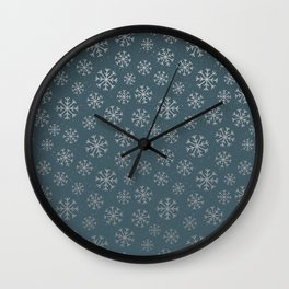 Winter Abstracts 20B Wall Clock