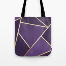 Beautiful Amethyst Gold Geometry Art Tote Bag