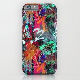 Graffiti and Paint Splatter iPhone Case