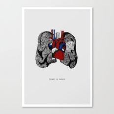 Heart&Lungs Canvas Print