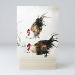 chinese painting roasters Mini Art Print