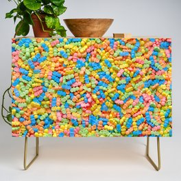 Mini Baby Pacifier Pastel Candy Pattern Credenza