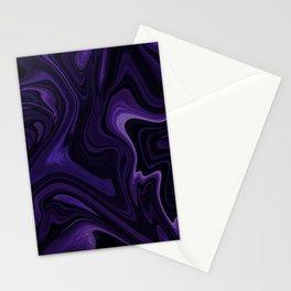 Purple liquefy Pattern Stationery Cards