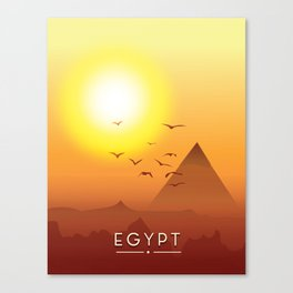 Vintage Egypt travel poster, Canvas Print