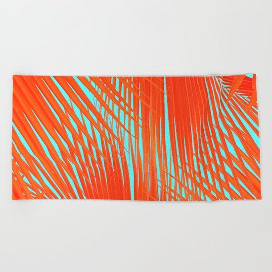 Flame Frenzy Beach Towel