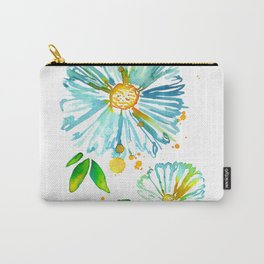 Lakeside Watercolour Blue Daisies Carry-All Pouch