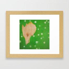 Fox in Clover Framed Art Print