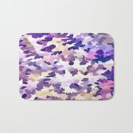Foliage Abstract Camouflage In Pale Purple and Violet Pastels Bath Mat