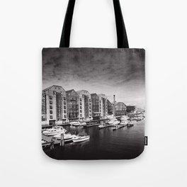 Trondheim B&W Tote Bag