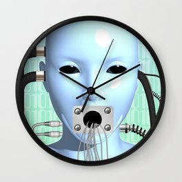 Web Head Modern Surreal Art Wall Clock