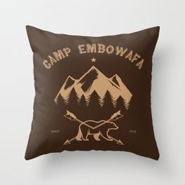 CAMP EMBOWAFA Throw Pillow