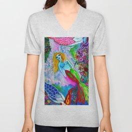 Mermaid Cotton Candy Sea Unisex V-Neck